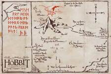 The Hobbit - Desolation of Smaug - Mountain Map - Poster Druck 91,5x61 cm