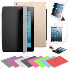 Housse Coque Etui SmartCover PU Cuir Apple iPad Air 2 iPad 6 Wi-Fi 3G +Film