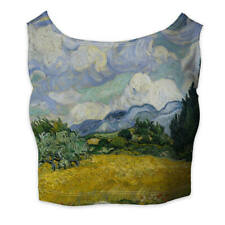 Vincent Van Gogh Fine Art Painting Ladies Crop Top - Sleeveless Sizes XS-3XL