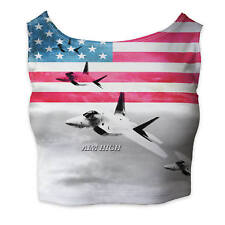 Air Force USA USAF Ladies Crop Top - Sleeveless Sizes XS-3XL