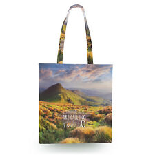 Mountains Are Calling Travel Adventure Canvas Tote Bag - 16x16 inch Book Gym Bag