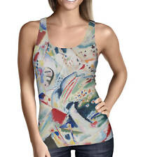 Kandinsky Abstract Art Painting Ladies Tank Top - Sizes XS-3XL Activewear