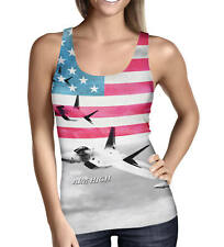 Air Force USA USAF Ladies Tank Top - Sizes XS-3XL Activewear