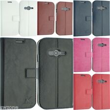 FOR SAMSUNG GALAXY ACE 4 SM-G313F LEATHER FLIP POUCH COVER CASE SCREEN PROTECTOR