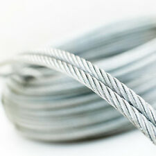 6x7 GALVANISED STEEL WIRE ROPE metal cable 1.5mm 2mm 2.5mm 3mm 4mm 5mm