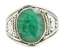 Brazilian Emerald Gemstone Ring Solid 925 Sterling Silver Jewelry IR31783