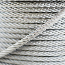 2mm WIRE ROPE 6x7 GALVANISED STEEL metal cable