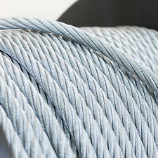 6mm WIRE ROPE 6x19 GALVANISED STEEL metal cable elastic soft strand