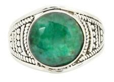Brazilian Emerald Gemstone Ring Solid 925 Silver Jewelry IR31777