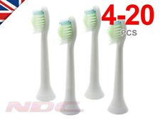 Sonicare DiamondClean Compatible WHITE Toothbrush Heads Philips HX6064 Phillips
