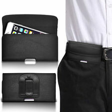 PU Leather Horizontal  Belt Clip Pouch Case For ZTE Grand Memo V9815