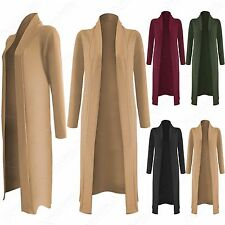 NEW LADIES LONG SLEEVE DUSTER JACKET WOMENS CREPE COAT OPEN FRONT LOOK CAPE TOP