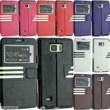 SAMSUNG GALAXY S6 SM-G920F & S6 EDGE LEATHER CASE COVER FLIP SCREEN PROTECTOR