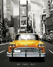 New NY Taxi No 1 Yellow New York Taxi Number 1 Mini Poster