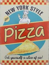 New York Style Pizza Tin Sign 30x40cm