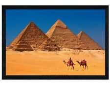 Black Wooden Framed Pyramids of Giza Maxi Poster 91.5x61cm