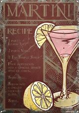 Martini Cocktail Recipe Tin Sign 30.5x40.7cm