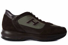 HOGAN SCARPE SNEAKERS UOMO CAMOSCIO NUOVE INTERACTIVE H FLOCK MARRONE SHOES  368