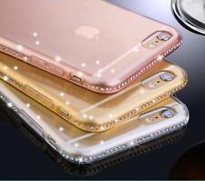 Luxury Ultra Thin Crystal Diamond Bling Gel Case Cover for iPhone SE 5 6S 7 Plus