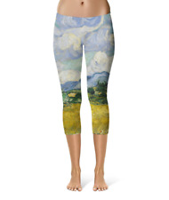 Vincent Van Gogh Fine Art Painting Sport Capri Leggings XS-5XL Sports 3/4 Length