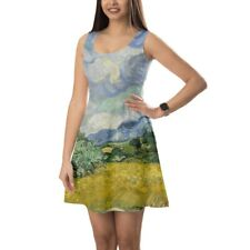 Vincent Van Gogh Fine Art Painting Sleeveless Dress XS-5XL Sleeveless Flared Str