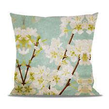Magnolia Spring Flowers Fleece Cushion - Heart, Round or Square Shaped Pillow