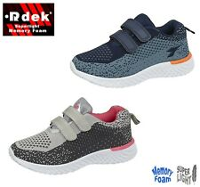 Kids Boys Girls Junior Childrens Touch Fastening Sports Trainers Shoes