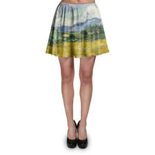 Vincent Van Gogh Fine Art Painting Skater Skirt XS-3XL Stretch Flared Short Skir