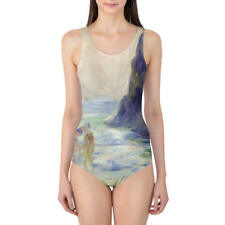 Renoir Guernsey Art Painting Women's Swimsuit XS-3XL One Piece, Removable Paddin