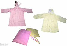 Kids Rain Coat Boys Girls Children Waterproof Raincoat 4yrs-5yrs in Pink& Yellow