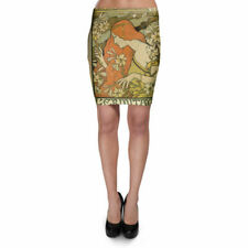 Art Deco Paris Bodycon Skirt