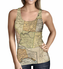 Vintage South West USA Map Ladies Tank Top - Sizes XS-5XL