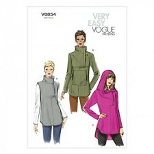 Free UK P&P - Vogue Ladies Easy Sewing Pattern 8854 Tunic Tops (Vogue-885...