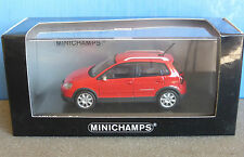 VW VOLKSWAGEN CROSS POLO 2006 FLASH ROT MINICHAMPS 400054470 1/43 RED ROUGE
