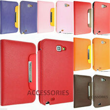 Samsung Galaxy Note 1 N7000 I9220 Syntactic (synthetic) Leather Case cover flip