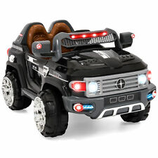 12V MP3 Kids Ride on Truck Car RC Remote Control, LED Lights, AUX and Music