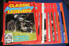 CLASSIC MOTORCYCLING LEGENDS MAGAZINES VARIOUS ISSUES