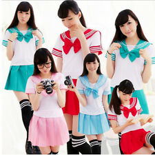Kawaii Japanese School Uniform Dress Sailor Cosplay Costume Anime Girl Styles