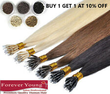 """Nano Ring Human Hair Extension Forever Young Remy Human Hair Extension 16 18 20"""""""
