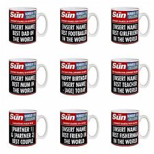 Personalised The Sun Newspaper Photo Mug Birthday Gift Idea for 18th 21st 40th