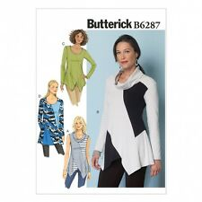 Butterick Ladies Easy Sewing Pattern 6287 Loose Fit Panelled Tunic Tops (Butt...