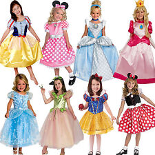 Girls Fairy Tale Storybook Princess Minnie Mouse Snow White Fancy Dress Costume