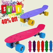 Mixed Retro Skateboard Skate Boards Longboard Complete Board Vintage Cruiser 22""