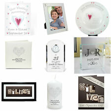 Personalised Silver 25th Wedding Anniversary Card & Gift Present Ideas