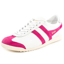 Gola Bullet Womens Leather White Fuschia Trainers