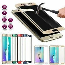 Full Cover Curved Tempered Glass Screen Protector for Galaxy S6 S7 S8 Edge Plus