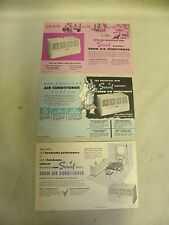Lot Vtg Servel Room Air Conditioning Conditioner Advertising Card Brochure (D1)