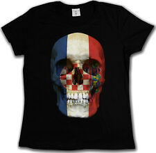 CROATIA Skull FLAG T-Shirt - Skull Banner Croatian Skull Iconic T-Shirt 3XL