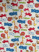 Jungle Zoo Fabric 5  *** 100% Cotton *** Free postage***