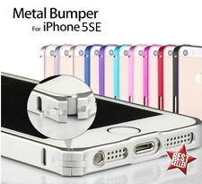 CUSTODIA COVER BUMPER SLIM IN ALLUMINIO per APPLE IPHONE 5SE 5 SE + PELLICOLA